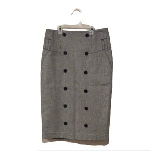 Ben Sherman Houndstooth Pencil Skirt - Size Small